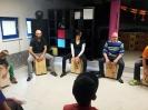 Cajonbau-Workshop und Cajon-Musikworkshop 10.2014